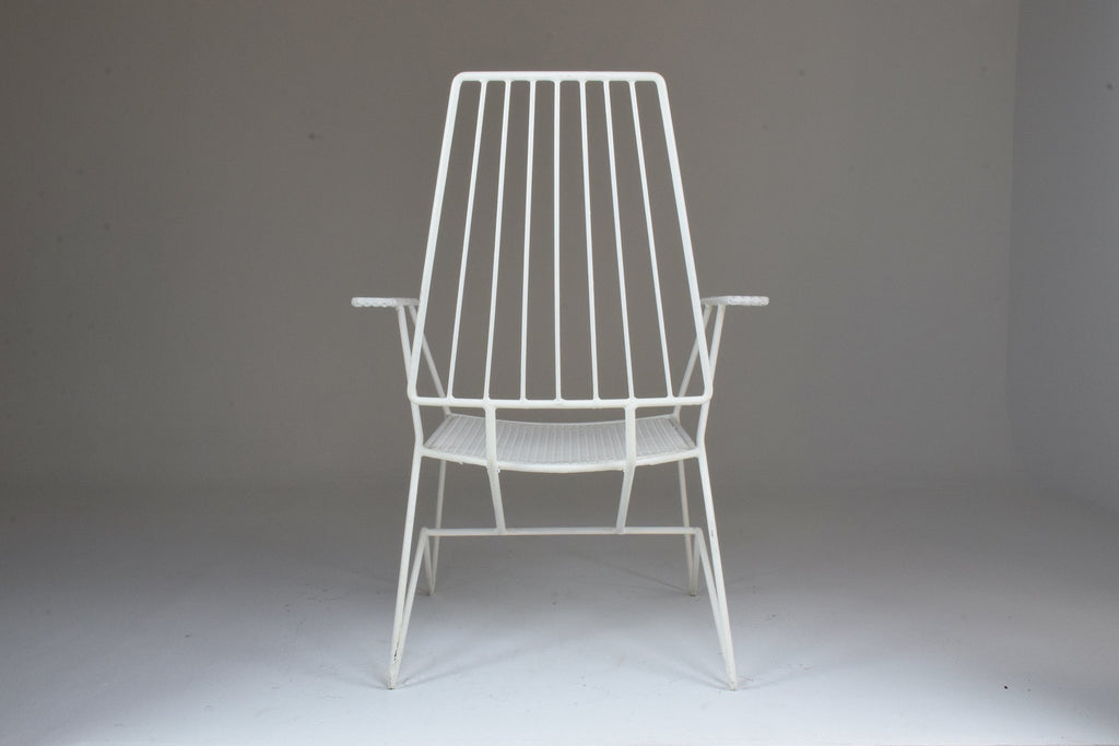French Mid-Century Modern Armchair by Mathieu Mategot, 1950's - Spirit Gallery
