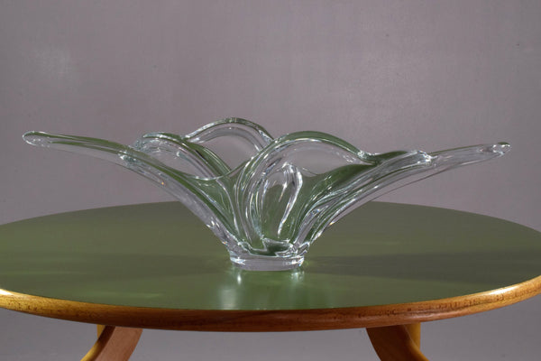 French Sculptural Vintage Crystal Centerpiece, 1960-1970's - Spirit Gallery
