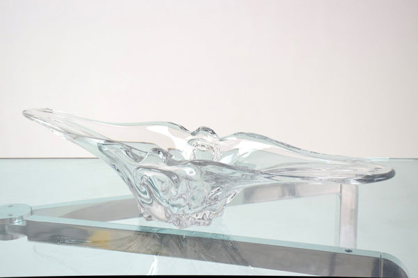 French Sculptural Vintage Crystal Vase, 1960's - Spirit Gallery