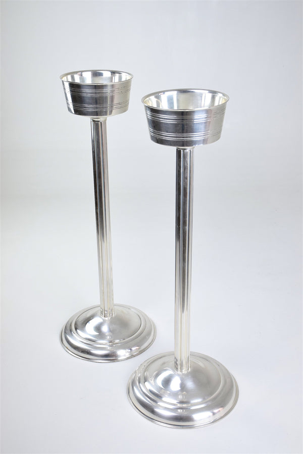 Shop French Silver Plated Wine Bucket Stands, 1960s - Spirit Gallery