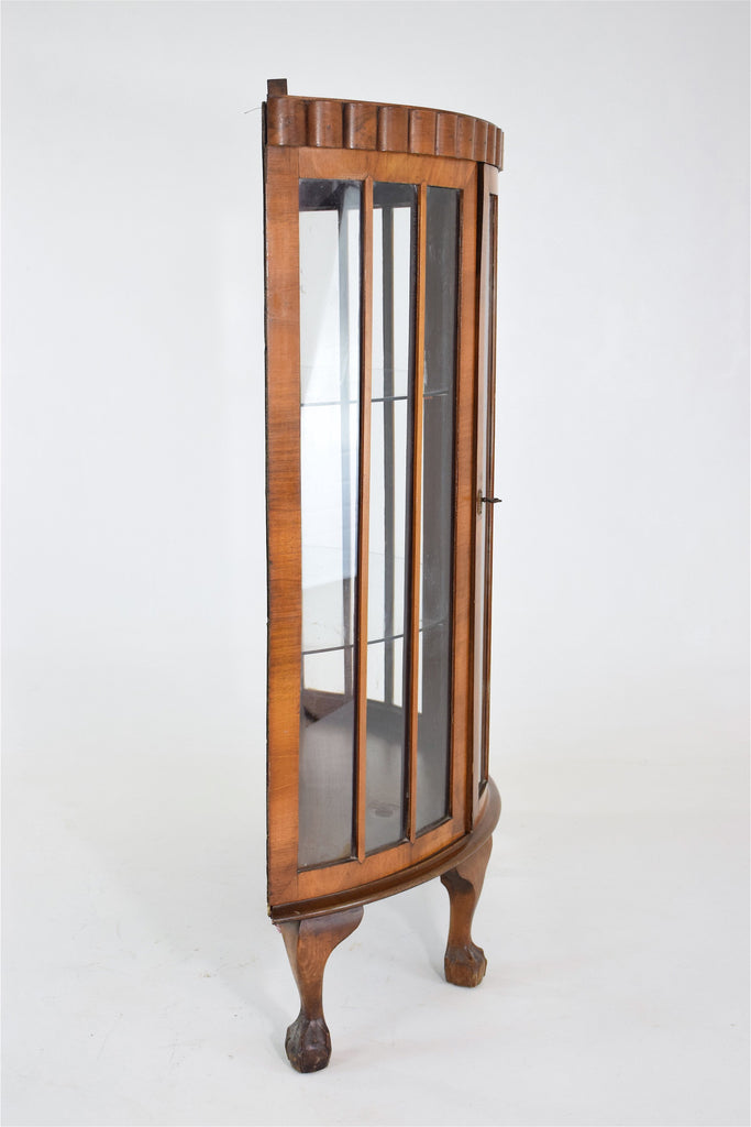 French Vintage Art Deco Circular Display Cabinet or Vitrine - Spirit Gallery