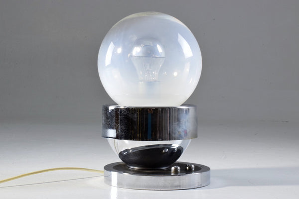 French Vintage Chrome Globe Double Light Lamp, 1960-1970 - Spirit Gallery