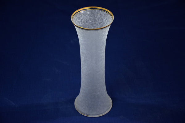 French Vintage Etched Glass Vase, 1960's - Spirit Gallery