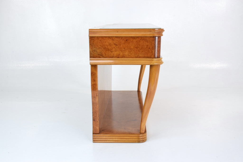 Shop Italian Bird's-Eye Maple Dressing Table and Mirror, 1950s - Spirit Gallery