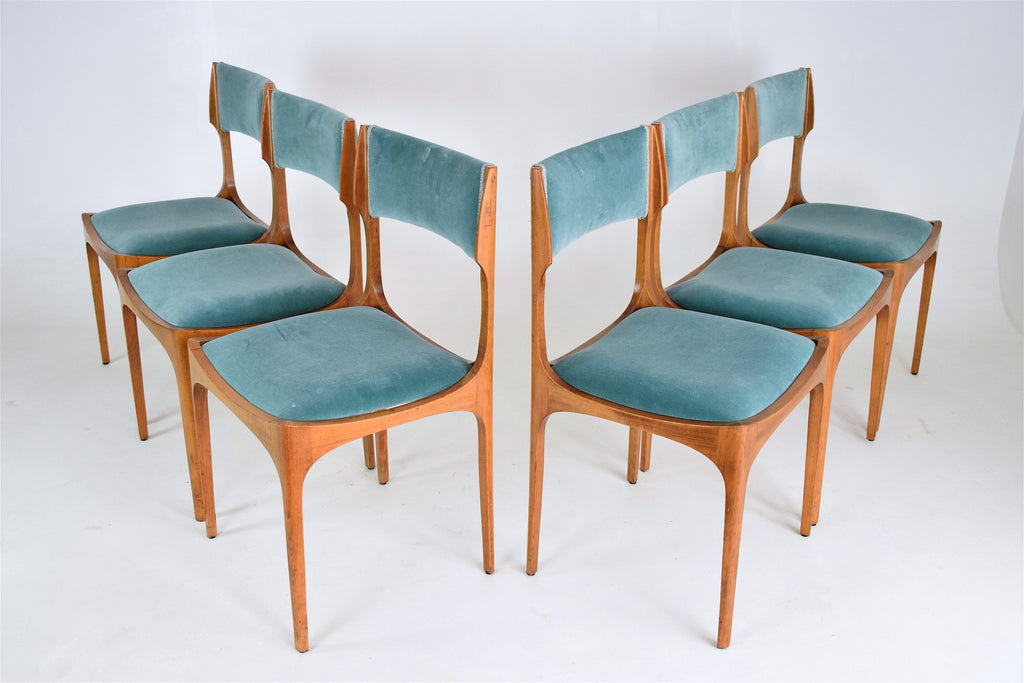 Italian Dining Chairs by Giuseppe Gibelli for Sormani, Set of 6, 1960's - Spirit Gallery