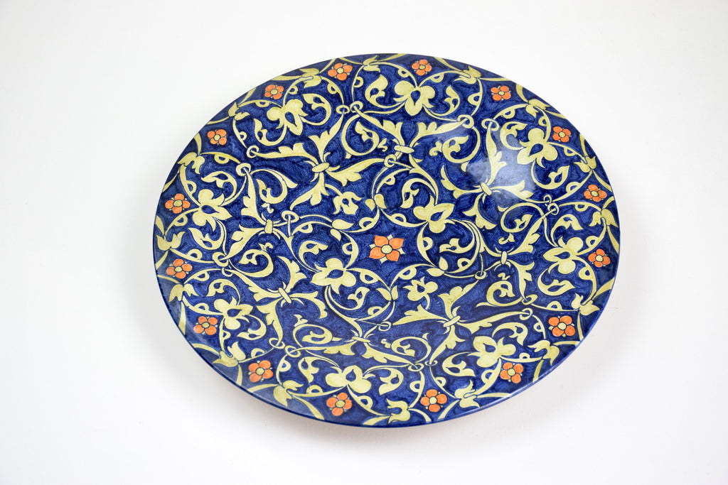 Italian Hand-Painted Centerpiece Dish, 1930-1940 - Spirit Gallery