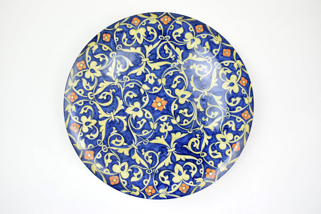 Shop Italian Hand-Painted Centerpiece Dish, 1930-1940 - Spirit Gallery