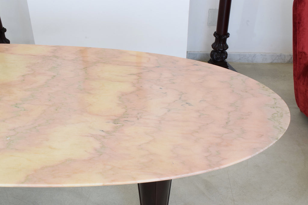 Italian Mid-Century Oval Marble Dining Table, 1950's - Spirit Gallery