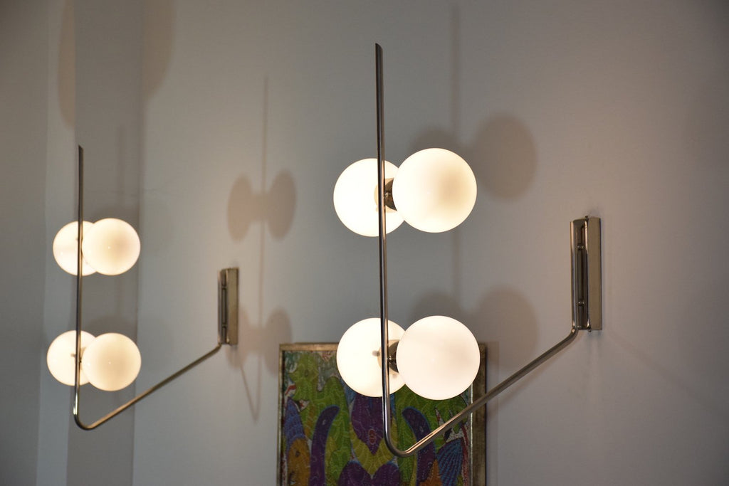 Shop Italian Mid-Century Wall Lights Attributed to Stilnovo - Spirit Gallery