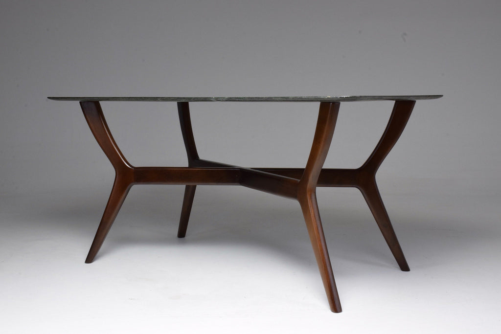 Shop Italian Midcentury Coffee Table in Guatemala Marble, Gio Ponti Style - Spirit Gallery
