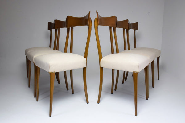 Shop Italian Midcentury Dining Chairs, Set of 6, 1950s - Spirit Gallery