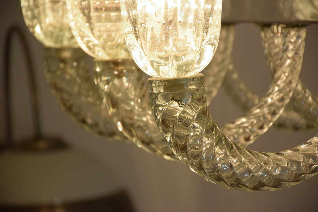 Shop Italian Murano Vintage Chandelier Attributed to Barovier & Toso, 1940's - Spirit Gallery