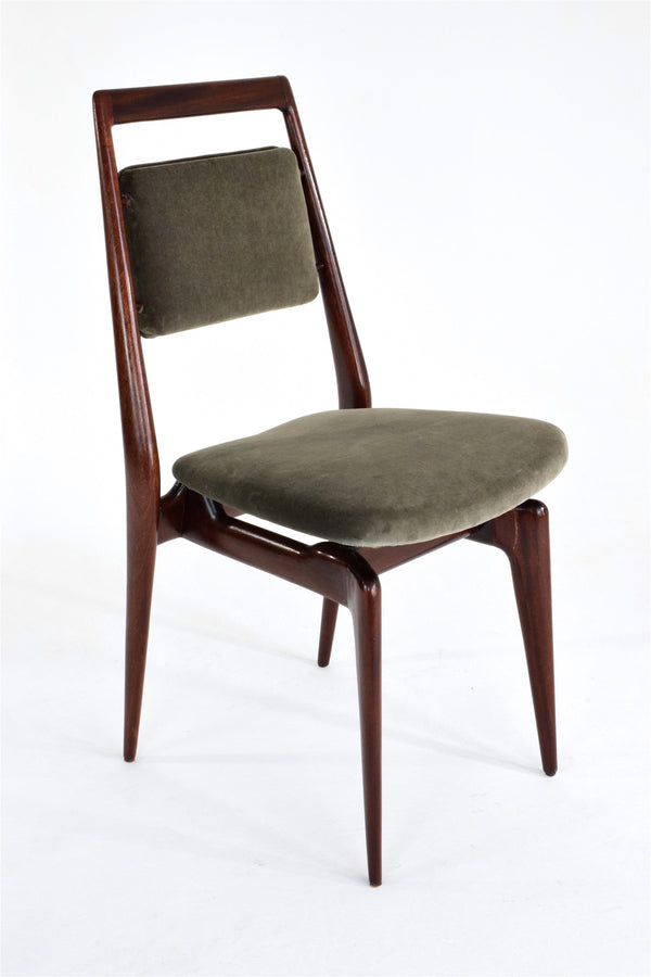 Shop Italian Velvet Dining Chairs, Set of 8, 1950's - Spirit Gallery