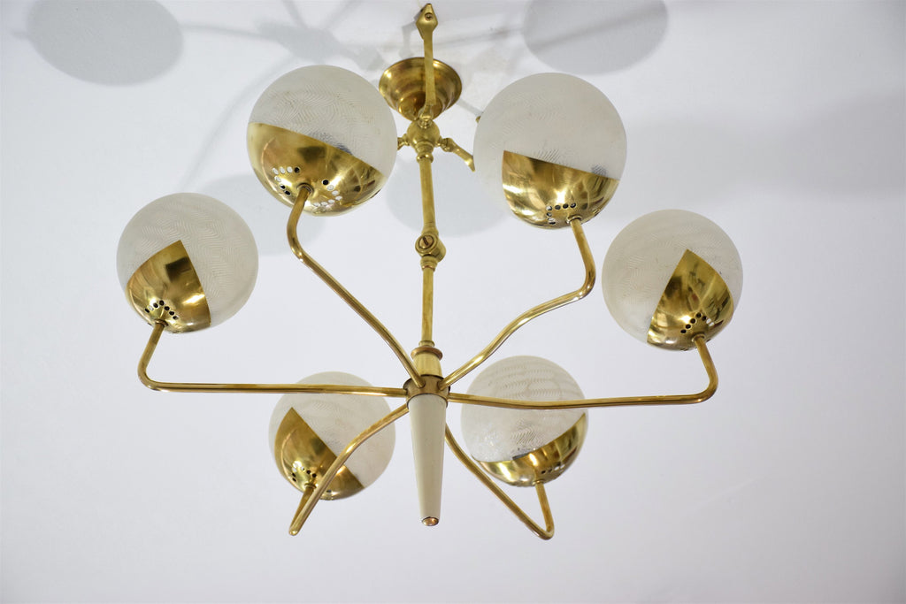 Shop Italian Vintage Articulating Brass Spider Chandelier, 1950s - Spirit Gallery