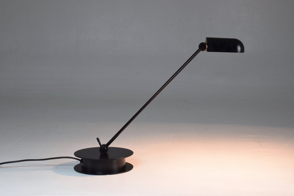 Italian Vintage Black Steel Lamp - Spirit Gallery