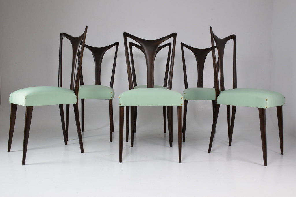 Italian Vintage Dining Chairs by Guglielmo Ulrich, Set of 6, 1940's - Spirit Gallery
