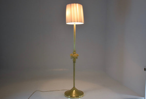 Shop Italian Vintage Murano Floor Lamp by Barovier & Toso, 1950's - Spirit Gallery