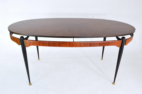 Italian Vintage Oval Rosewood Dining Table, 1950's - Spirit Gallery