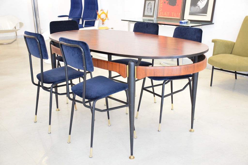 Italian Vintage Oval Rosewood Dining Table 1950 S Spirit Gallery