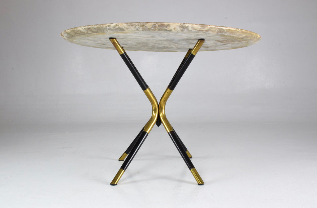 Shop Italian Vintage Round Marble Table by Cesare Lacca, 1950s - Spirit Gallery