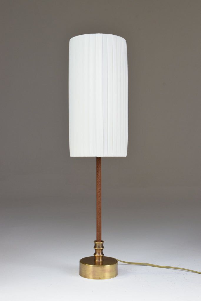 Leather Table Lamp, Confinement Collection by JAS - Spirit Gallery
