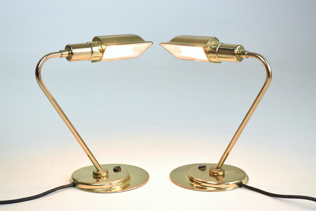 Shop Mid-Century French Brass Desk Lamps, 1960s, Set of 2 - Spirit Gallery