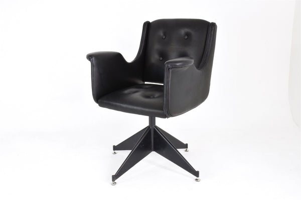 Mid-Century Italian Leather Office Chair - Spirit Gallery