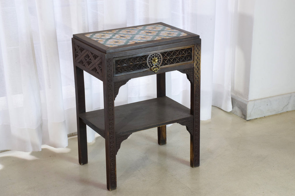 Shop Moorish Vintage Sculpted Bed and Nightstands, 1930's - Spirit Gallery