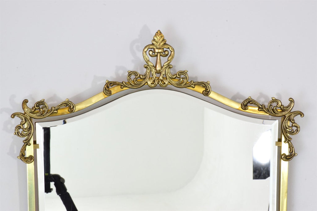Shop Neoclassical Floating Brass Console and Mirror, France - Spirit Gallery