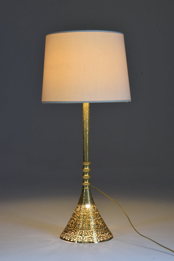 Shop Openwork Brass Table Lamp, Confinement Collection by JAS - Spirit Gallery