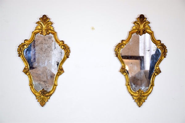 Pair of 20th Century Italian Giltwood Mirrors - Spirit Gallery