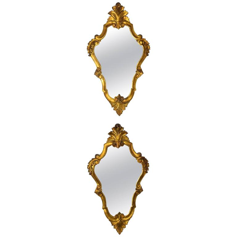 Shop Pair of 20th Century Italian Giltwood Mirrors - Spirit Gallery