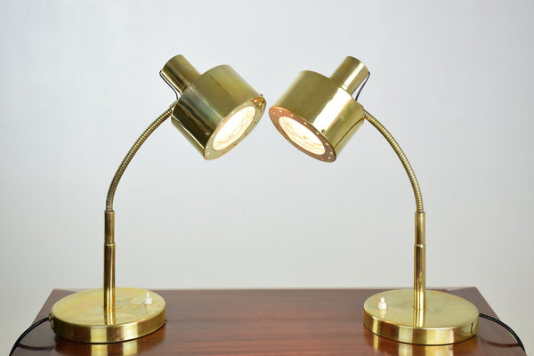 Shop Pair of 20th Century Vintage Brass Desk Lamps, 1960's - Spirit Gallery