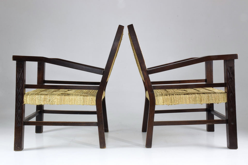 Shop Pair of Armchairs by Francis Jourdain, France, 1930's - Spirit Gallery