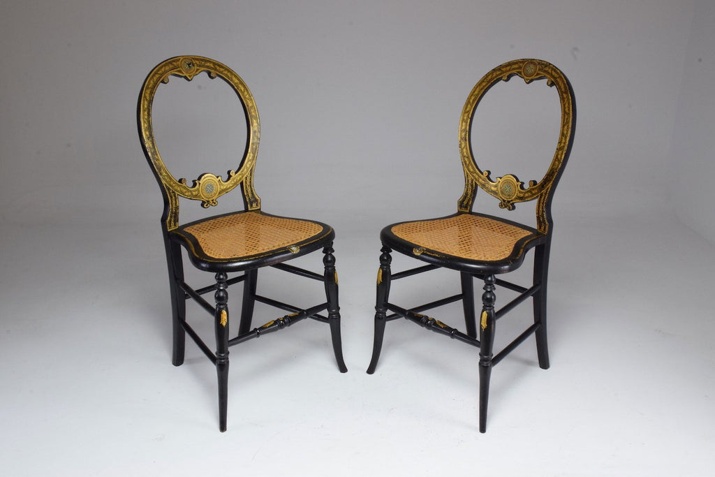 Pair of French 19th Century Napoleon III chairs - Spirit Gallery