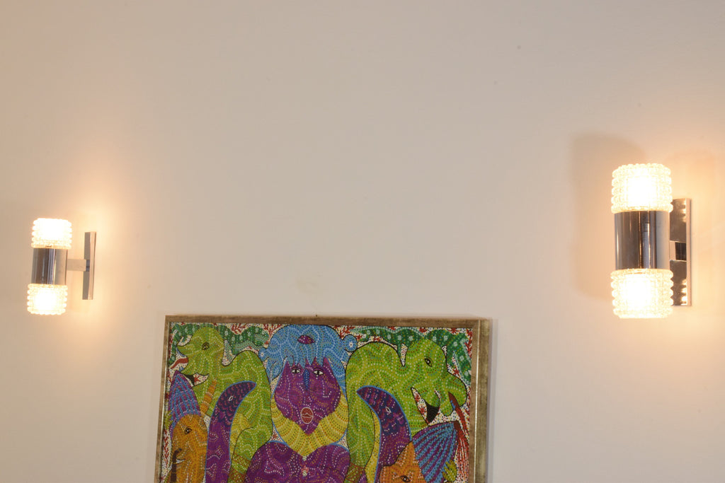 Pair of French Mid Century Sconces, 1970's - Spirit Gallery