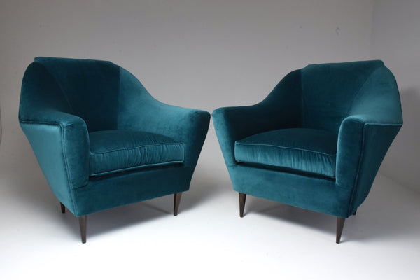 Pair of Italian 20th Century Armchairs by Ico Parisi, 1950s - Spirit Gallery