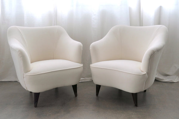 Shop Pair of Italian Armchairs by Gio Ponti for Casa e Giardino, 1950s - Spirit Gallery