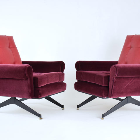 Shop Pair of Italian Mid-Century Armchairs, 1950s - Spirit Gallery