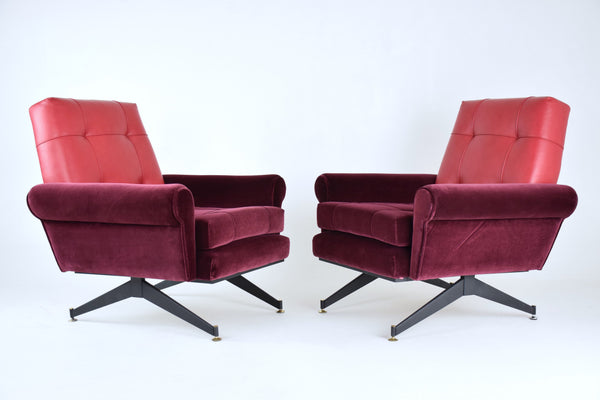 Pair of Italian Mid-Century Armchairs, 1950s - Spirit Gallery