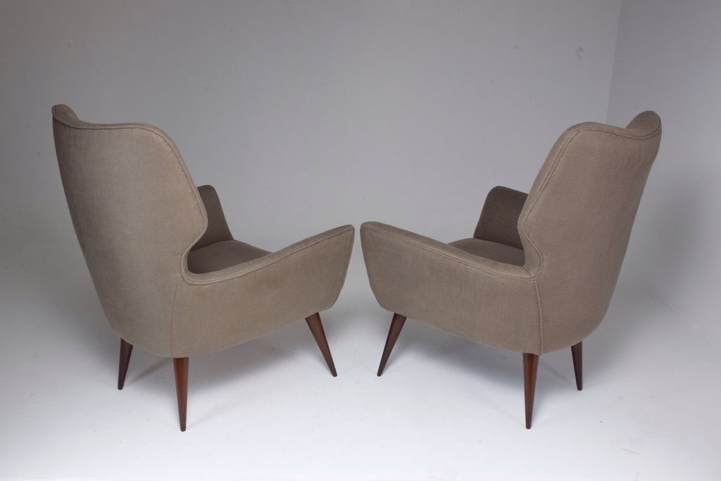 Pair of Italian Mid-Century Armchairs, 1950's - Spirit Gallery