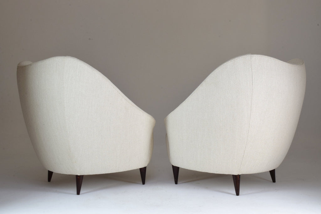 Shop Pair of Italian Mid-Century Armchairs Attributed to Gio Ponti, 1950's - Spirit Gallery