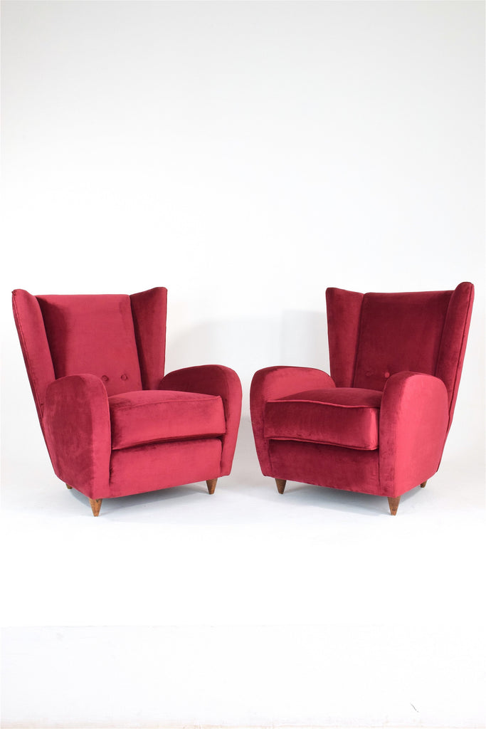 Shop Pair of Italian Mid-Century Armchairs by Paolo Buffa, 1950's - Spirit Gallery