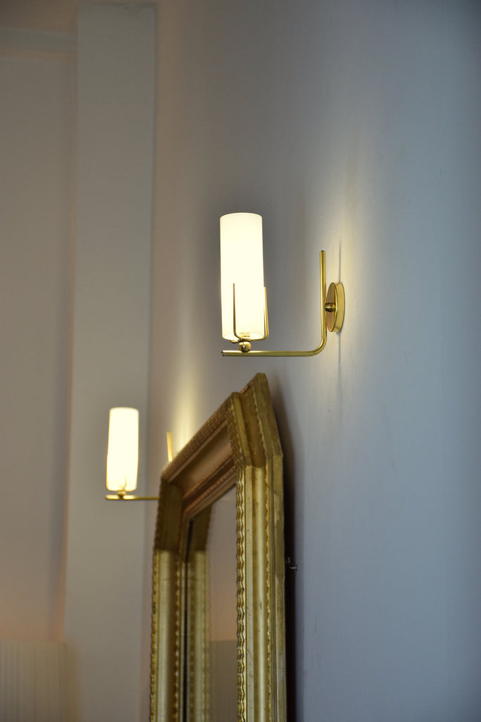 Pair of Italian Mid-Century Brass Wall Lights, 1960's - Spirit Gallery