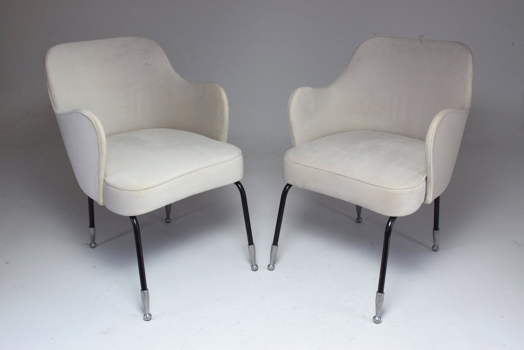Pair of Italian Vintage Curved Armchairs, 1950's - Spirit Gallery