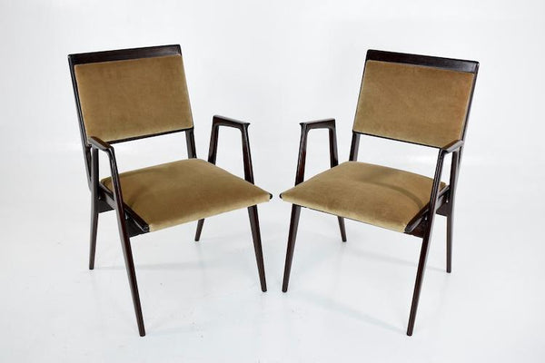 Shop Pair of Mid-Century Italian Armchairs - Spirit Gallery