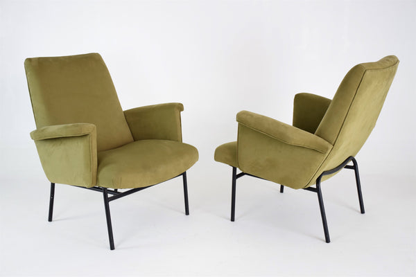 Pair of SK660 Armchairs by Pierre Guariche for Steiner, France, 1950's - Spirit Gallery