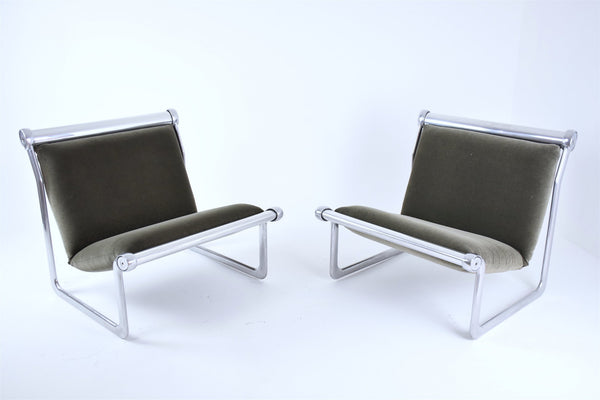 Pair of Sling Lounge Chairs by Hannah Morrison for Knoll, 1970's - Spirit Gallery