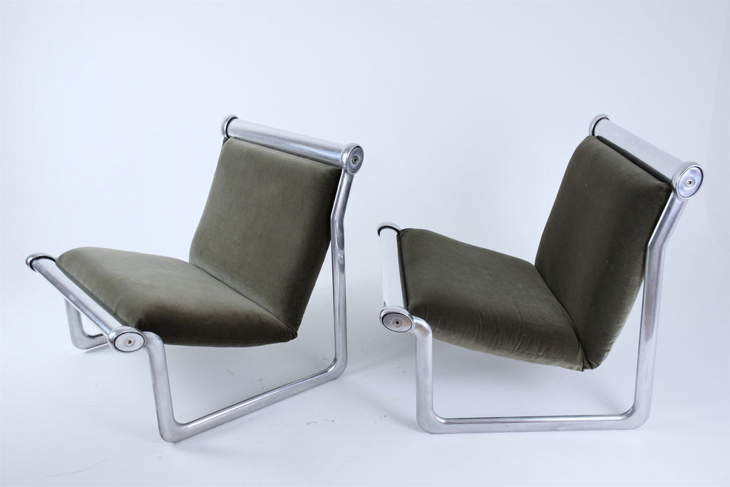 Shop Pair of Sling Lounge Chairs by Hannah Morrison for Knoll, 1970's - Spirit Gallery
