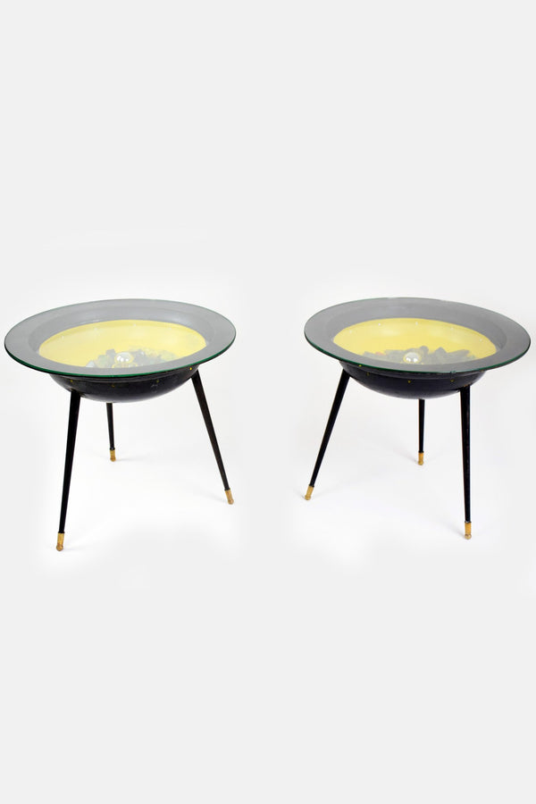 Shop Pair of Space Age Tables with Integrated Lighting, France, 1950's - Spirit Gallery
